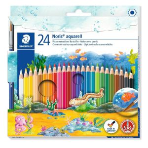 Lapices Acuarelables Staedtler Noris Aquarell 24 colores