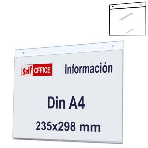 Placa tipo Metacrilato transparente pared Din A4 Horizontal