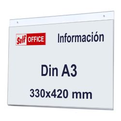 Placa pared transparente Din
