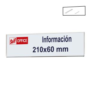 Placa portanombres pared tipo metacrilato 210x60mm