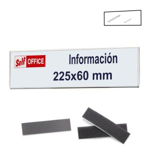 Placa Portanombres pared tipo metacrilato con iman y velcro