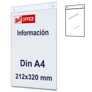 Placa tipo Metacrilato para Pared Din A4 Vertical