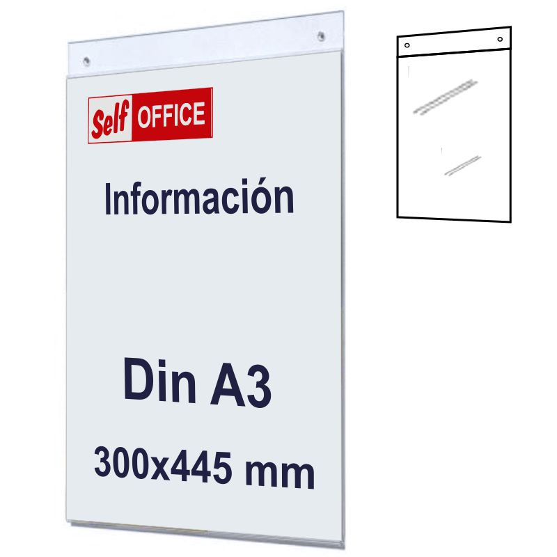 Comprar Placa tipo Metacrilato Pared Din A3 Vertical