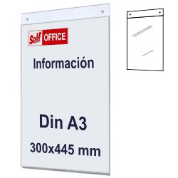 Placa tipo Metacrilato Pared Din A3 Vertical