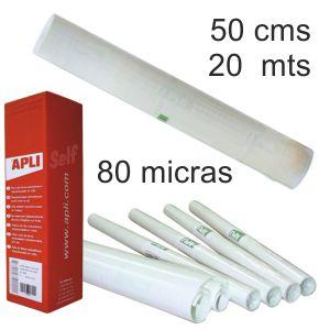 Plastico adhesivo transparente,rollo 0.5x20