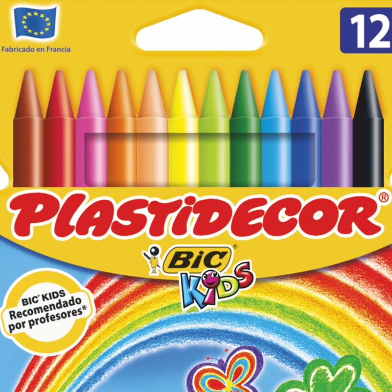 plastidecor 12 colores surtidos   bic kids