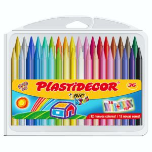 Plastidecor 36 Colores, ceras duras Bic Kids