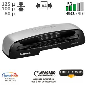 Plastificadora Fellowes Saturn 3i A4 125 Micras