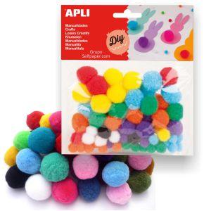 Pompones de colores Apli