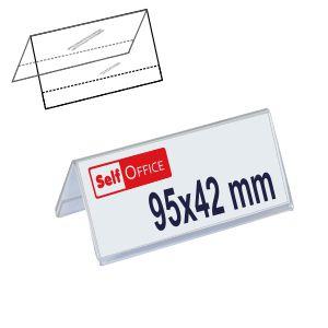 Porta-nombres porta-etiquetas precios metacrilato
