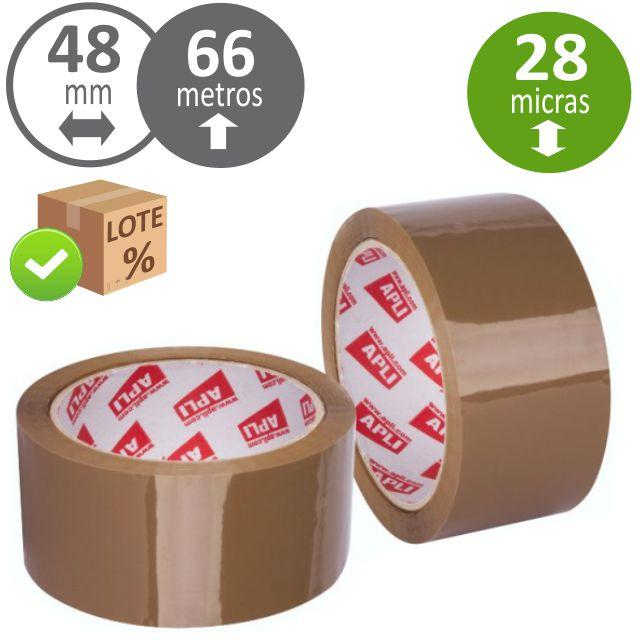 Precinto adhesivo cinta embalar apli 48x66 marron - Cinta de embalar ...