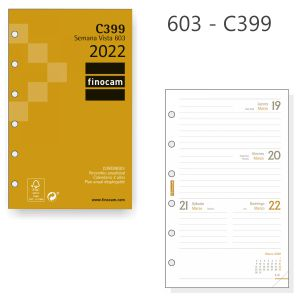 Recambio Agenda Finocam C399,