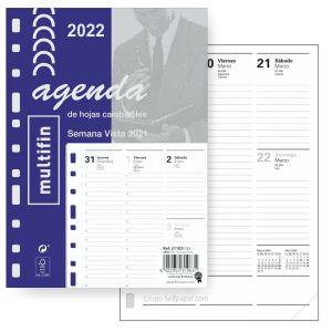 Recambio Agenda Multifin,3002 Semana