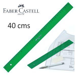 Regla Faber-Castell verde de