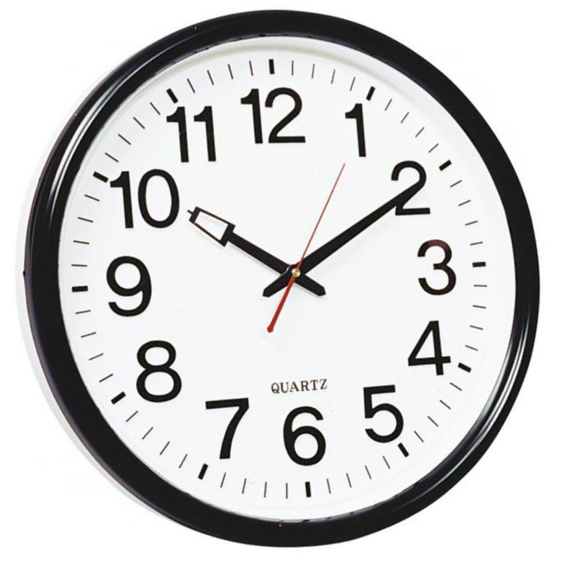 Reloj de pared oficina 35 cms extra grande 210bs negro - Reloj grande de pared ...