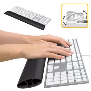Reposamuñecas flexible para teclado Fellowes I-Spire Negro