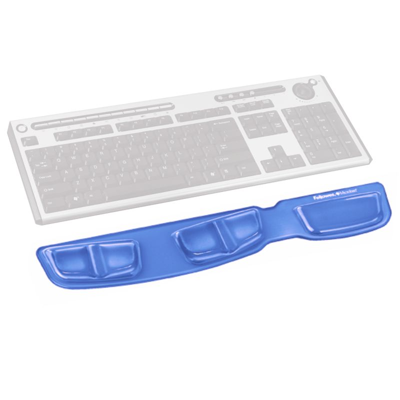 Reposamuñecas Teclado Gel Fellowes Canal Health V Azul
