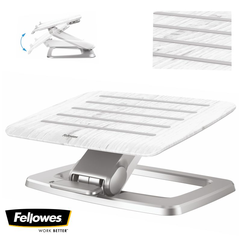 Comprar Reposapiés Autoajustable automático Fellowes Hana blanco
