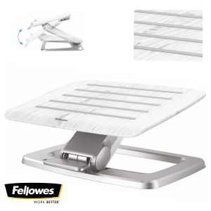 Reposapiés Autoajustable automático Fellowes Hana blanco