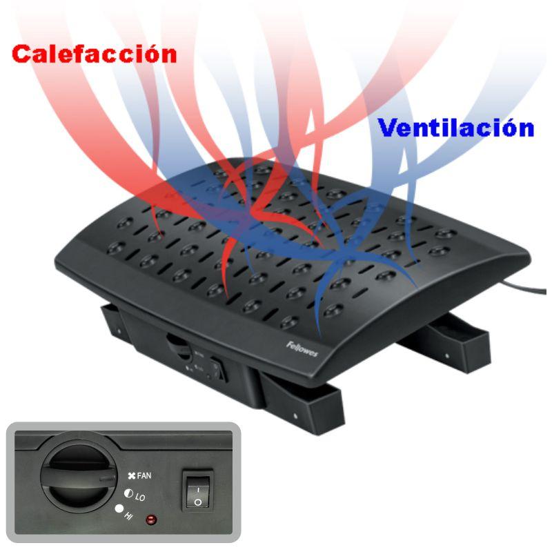 reposapies con calefaccion ventilador