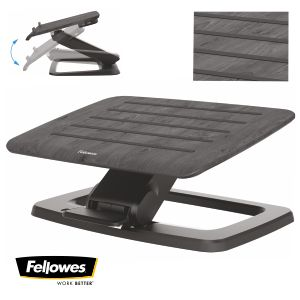 Reposapiés Fellowes Hana Autoajustable Negro