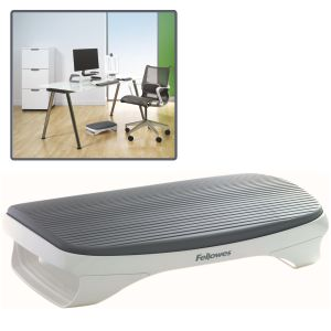 Reposapies Fellowes I-Spire, Diseño moderno, blanco