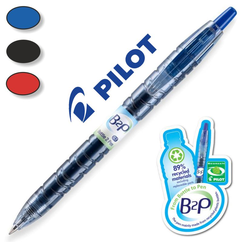 roller pilot b2p gel 07 begreen bottle 2 pen