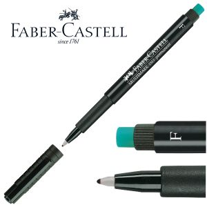 Rotulador Faber-Castell OHP CD, permanente, F, 0,6 mm Negro