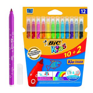 Rotuladores Bic Kids Couleur 10+2 Ultra lavables