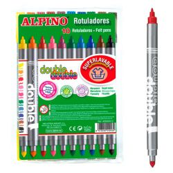 Rotuladores dos puntas Alpino Double 10 colores