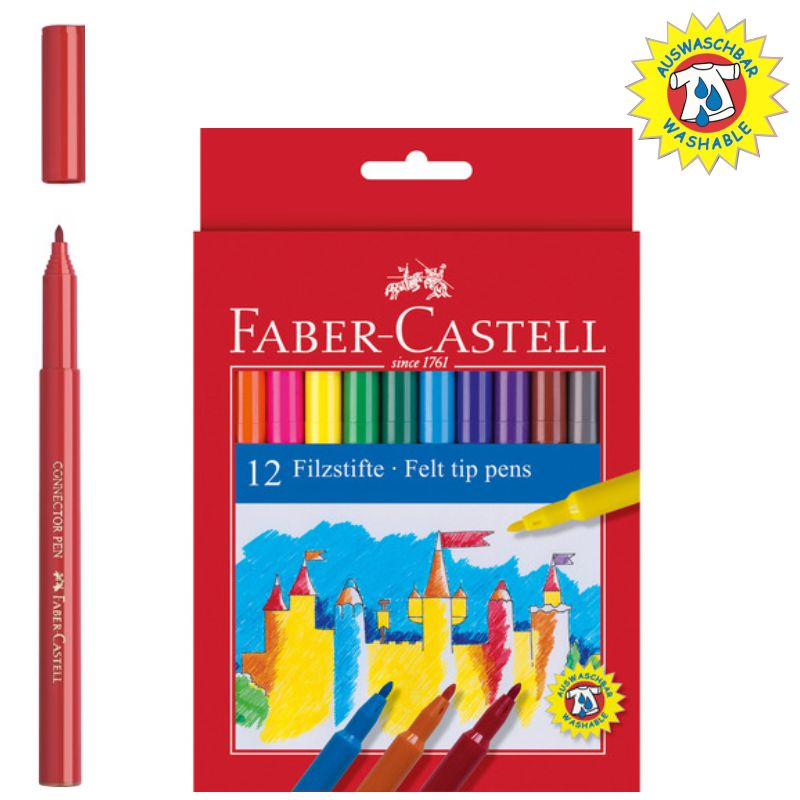 Rotuladores Faber-castell 12 Colores,