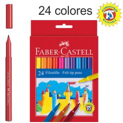 Rotuladores Faber-castell 24 Colores, escolares, lavables
