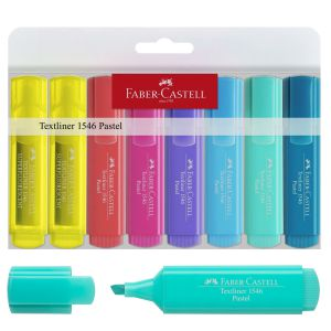 Rotuladores Faber-Castell Textliner 1546 Pastel Pack 8 uds