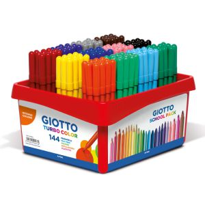 Classbox 144 Rotuladores Giotto Turbo color Schoolpack