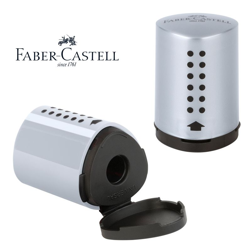 variado con dise/ño de animales Faber-Castell 183570/Grip 2001/Juego de sacapuntas doble y 2/l/ápices con puntos