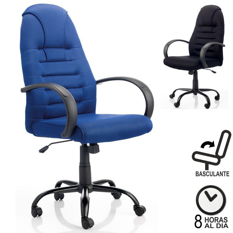 Silla de oficina morcego azul con respaldo alto tipo for Sillas tipo sillon