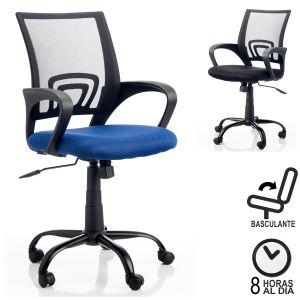 Silla de oficina tipo sillon morcego negro respaldo for Asiento silla oficina