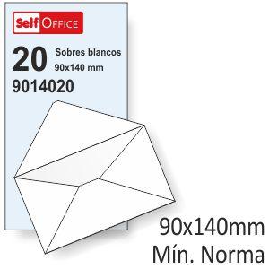 Sobres 90x140 mínimo normalizado