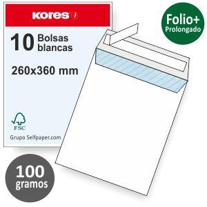 Bolsas sobres 260x360 folio