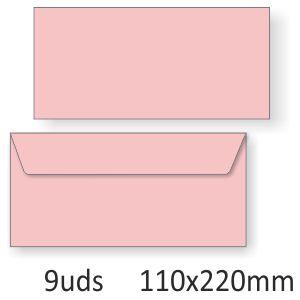 Sobres de color rosa