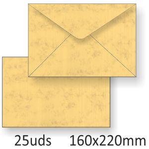 Sobres pergamino marmoleado Michel