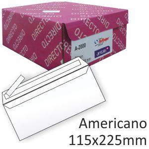 Sobres 115x225, americano, autoadhesivo