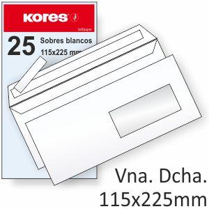 Sobres 115x225 americano ventana