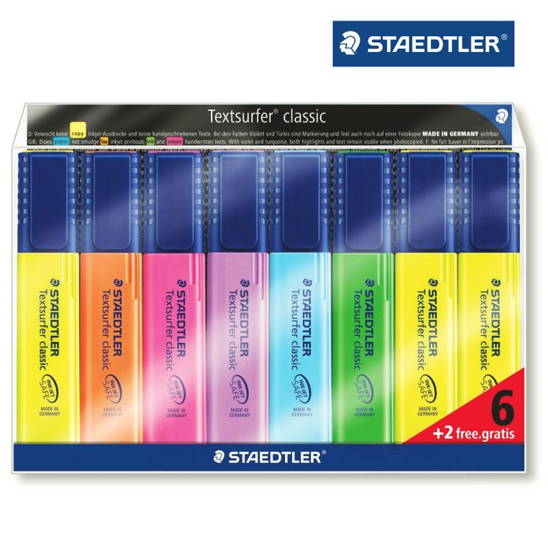 staedtler 364awp8 rotuladores fluorescentes
