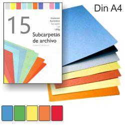 Subcarpetas colores surtidos Din