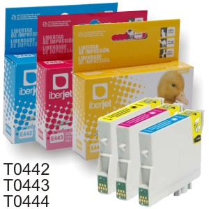 Comprar T0442 T0443 T0444 Epson - Cartucho compatible cada color