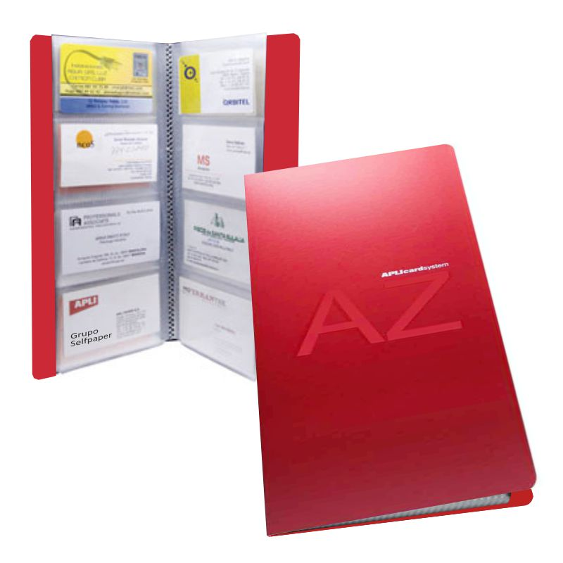 ad6f151fb Tarjetero Apli capacidad 160 Tarjetas de visita, Rojo, Selfpaper.com.
