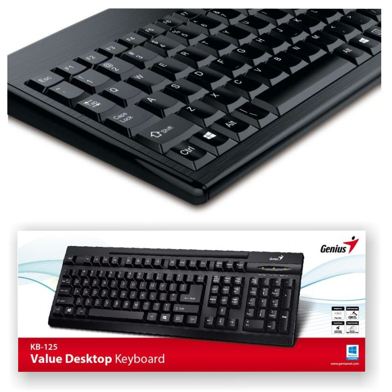 teclado usb genius kb 125 value desktop