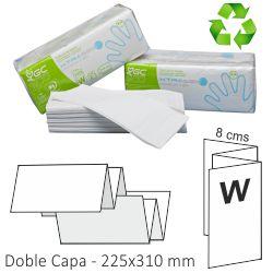 Toallas de papel engarzadas,