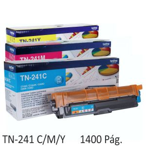 Toner Brother TN241C, TN241M, TN241Y original 1400 páginas